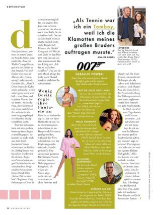 Ana de Armas in Cosmopolitan Magazine, Germany November 2020