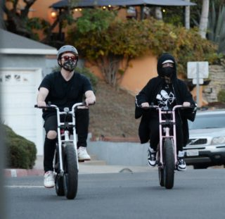 Billie Eilish and Finneas O'Connell Out Riding Bikes in LA