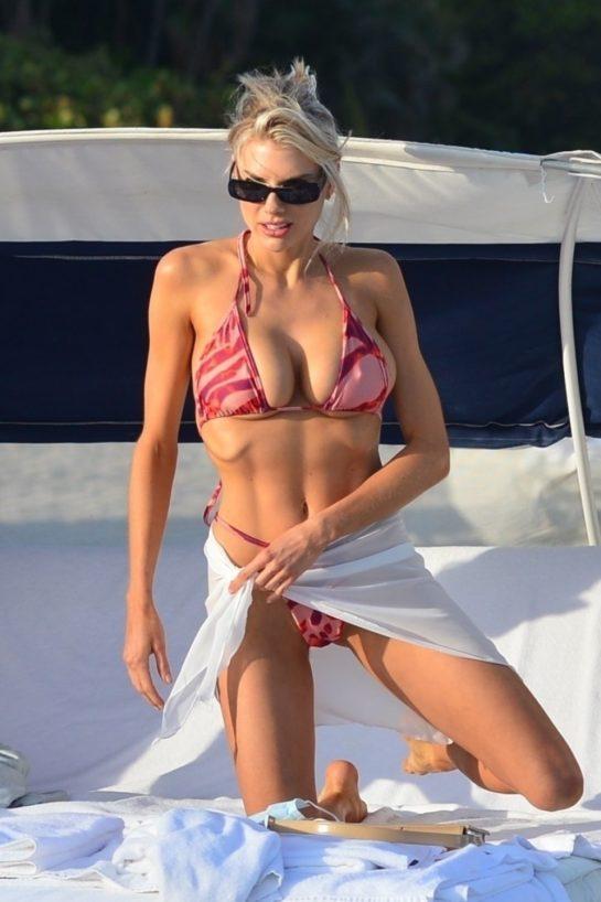 Charlotte McKinney in Bikini at a Beach in Miami