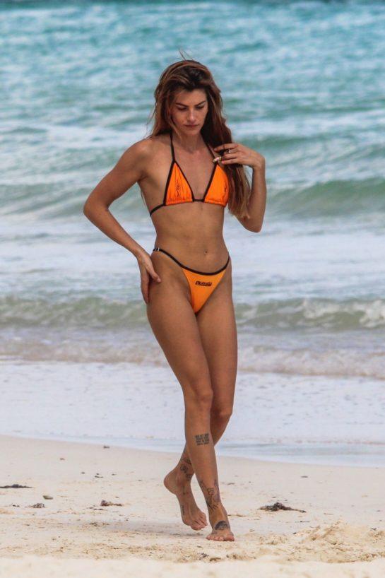 Clara Berry in Bikini at a Beach in Tulum