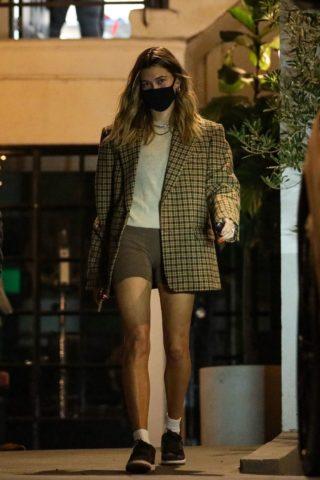 Hailey Bieber Leaves a Hair Salon in Beverly Hills