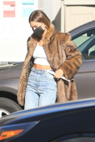 Hailey Bieber Out and About in Beverly Hills