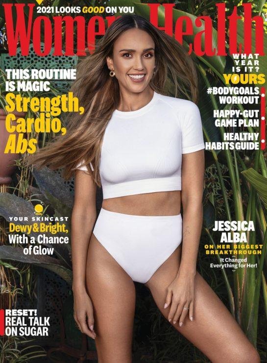 Jessica Alba in Women's Health Magazine January – February 2021