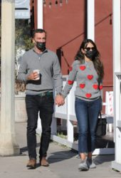 Jordana Brewster and Andrew Form at Blue Bottle Coffee in Brentwood