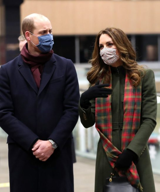 Kate Middleton and Prince William at Euston Station in London