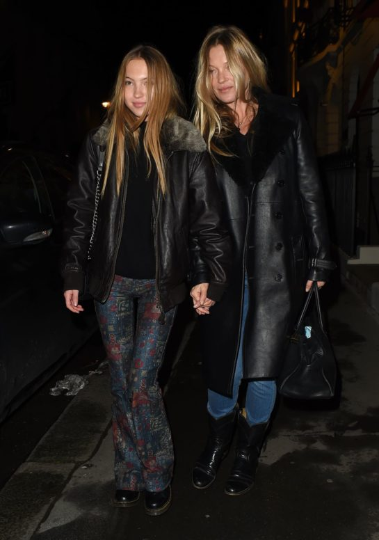 Kate Moss and Lila Grace Night Out in Mayfair
