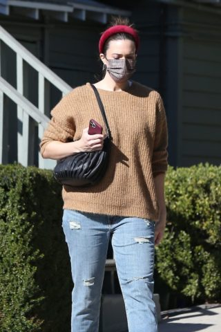 Mandy Moore in Ripped Denim Out in Los Angeles