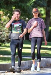 Margaret Qualley and Shia LaBeouf Out Jogging in Pasadena