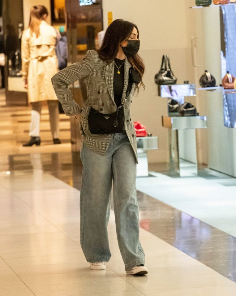 Michelle Keegan Shopping at Selfridges in London