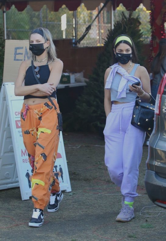 Vanessa Hudgens and GG Magree go shopping for a Christmas tree in Los Angeles