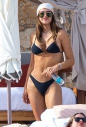 Amelia Gray Hamlin in Bikini at a Beach in Tulum
