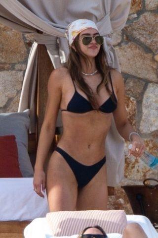 Amelia Gray Hamlin in Bikini at a Beach in Tulum