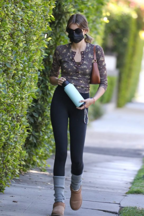 Kaia Gerber Heading to Her Daily Workout in West Hollywood