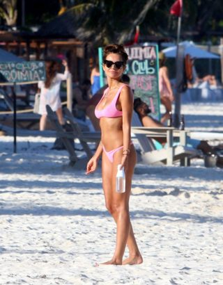 Natalia Siwiec in Bikini at a Beach in Tulum