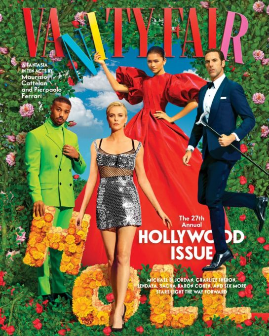 Charlize Theron and Zendaya on the Cover of Vanity Fair Hollywood Issue 2021