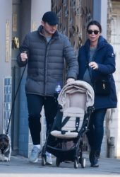 Christine Lampard and Frank Lampard Out in Chelsea