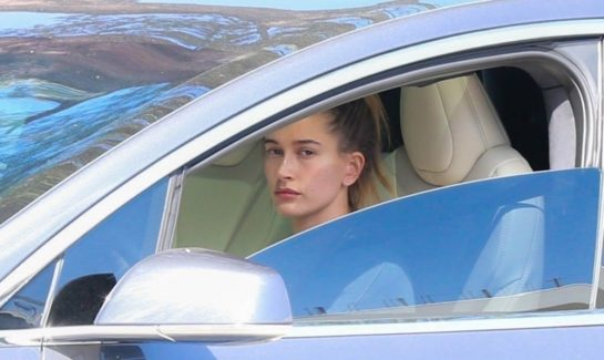 Hailey Bieber Out Driving in Los Angeles