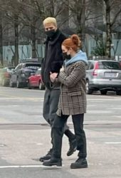 Madelaine Petsch and Miles Chamley-Watson Out for Coffee in Vancouver