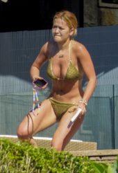 Rita Ora in Bikini Sunbathes at Her Sydney Home
