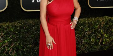 Salma Hayek at 2021 Golden Globe Awards in Beverly Hills