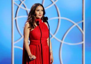 Salma Hayek at 2021 Golden Globe Awards in Beverly Hills