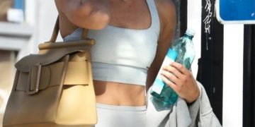 Taylor Hill Leaves a Gym in Beverly Hills