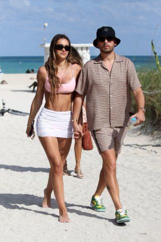 Delilah and Amelia Hamlin at a Beach in Miami