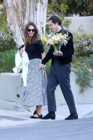 Lily James and Michael Shuman Out in Los Angeles