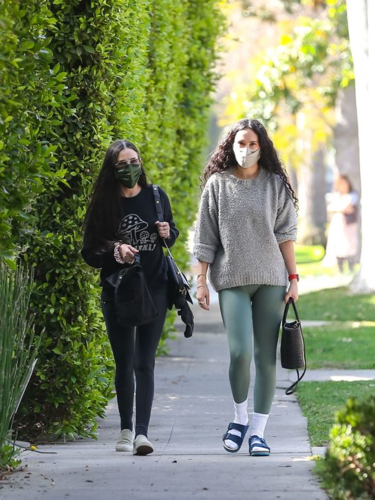 Rumer Willis And Demi Moore Out In Los Angeles