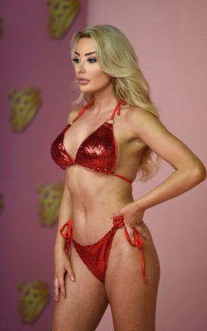 Chloe Crowhurst Bikini Photoshoot for Fashion Brand Mirror Image in Manchester