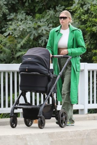 Elsa Hosk Out with Her Baby in Los Angeles