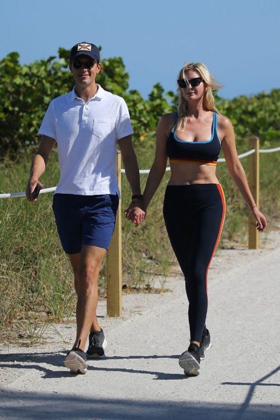 Ivanka Trump and Jared Kushner Out Hiking in Miami