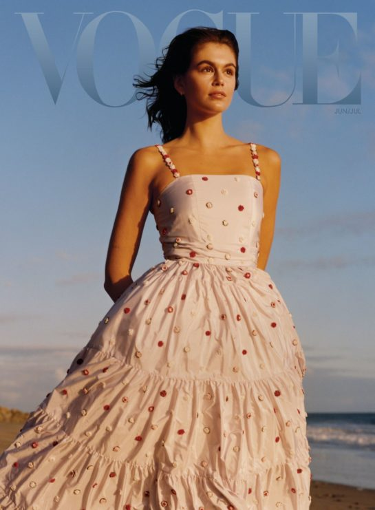 Kaia Gerber in Vogue Magazine, June/July 2021