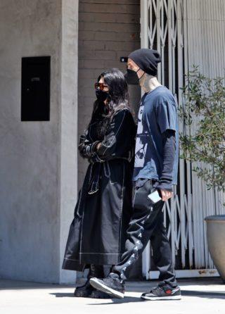 Kourtney Kardashian and Travis Barker at Taverna Tony in Malibu
