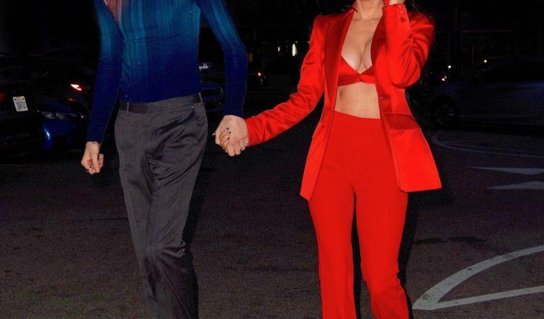 Celebrity Night Out – Megan Fox and Machine Gun Kelly Celebrates Her 35th Birthday in Santa Monica
