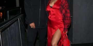 Pregnant Christina Milian at a Private Birthday Party at General Admission in Studio City