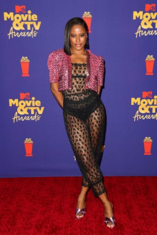 Taylour Paige at 2021 MTV Movie Awards in Los Angeles