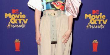 Victoria Pedretti at 2021 MTV Movie Awards in Los Angeles