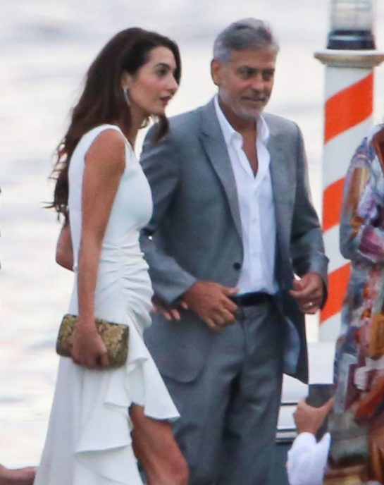 Amal Clooney Out for Dinner in Tremezzo