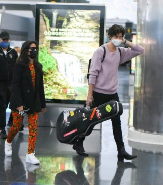 Camila Cabello and Shawn Mendes at JFK Airport in New York City