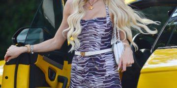Christine Quinn Arrives at Sofitel Hotel in Los Angeles