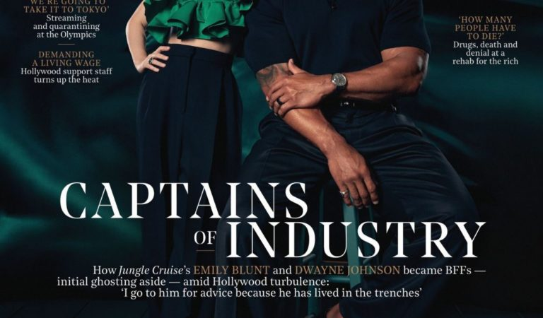 Magazine Covers – Emily Blunt and Dwayne Johnson in The Hollywood Reporter, July 2021