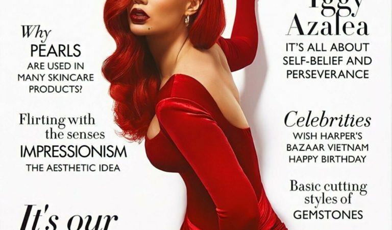 Magazine Covers – Iggy Azalea in Harper's Bazaar Magazine, Vietnam July 2021