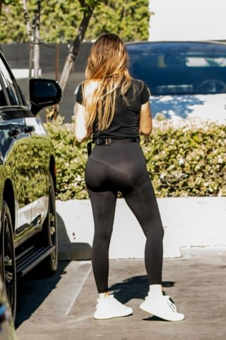 Khloe Kardashian Out and About in Calabasas