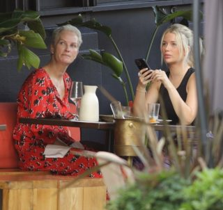 Lottie Moss Out For Lunch in Notting Hill