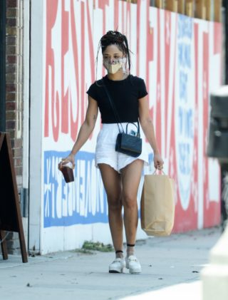 Tessa Thompson Out Shopping in Los Angeles